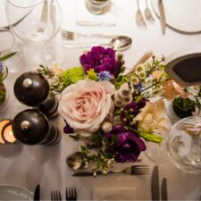 Ryan Hughes Photography - Wedding Photography - Table Flowers and Place Settings-min
