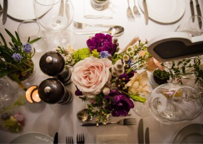 Ryan Hughes Photography - Wedding Photography - Table Flowers and Place Settings