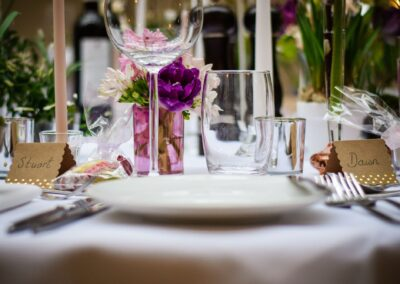 Ryan Hughes Photography - Wedding Photography - Wedding Top Table Place Settings-01